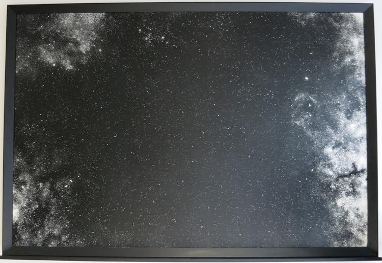 NYY Dust (Thomas Rudd 17h38m30°) Mixed media 193x282x14cm 2015
