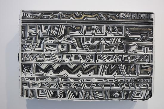 Ou Jin Untitled 17 acrylic pain, mixed media on linen, wood board, 2015 40x60cm