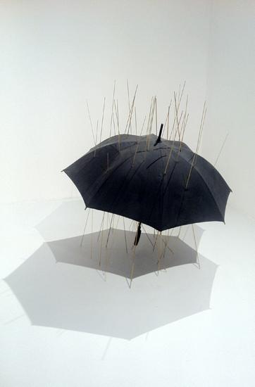 Chen Wei Rain Umbrella Gold 105x105x120cm 2011 E1