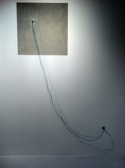 Zhang Ruyi Line power plugs, electric wires Cement, dimensions variable 2015 E