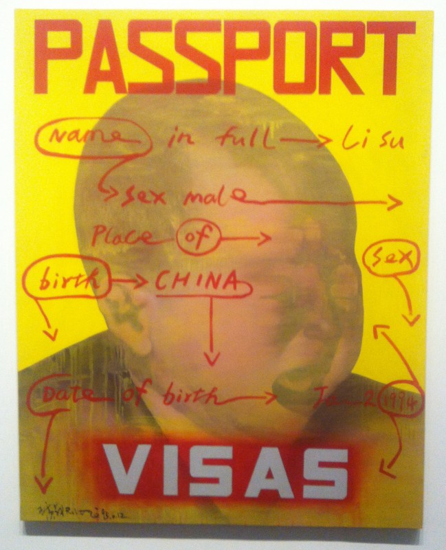 Wang Guangyi Passport 1993