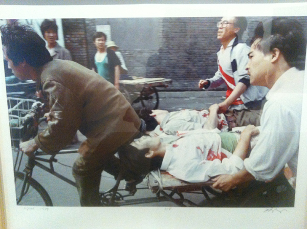 Liu Heung Shing A tricycle cart driver peddled wounded people to a nearby hospital on June 4, 1989