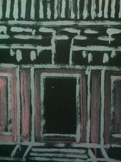 Tempe of Candour wall drawing detail