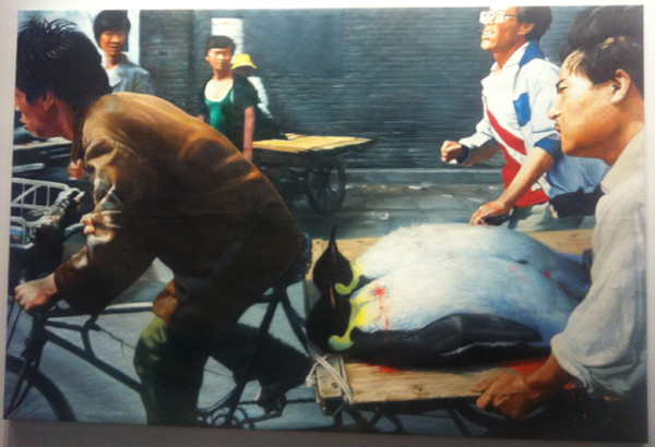 Wang Xingwei New Beijing 2001 Oil on canvas 200x300cm