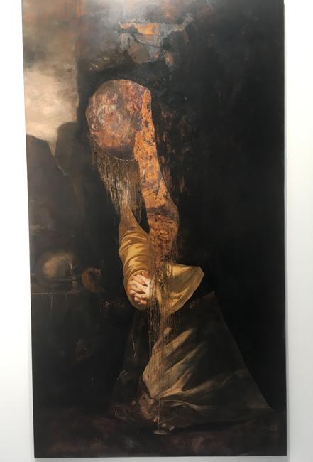 Nicola Samori, Il pettine, 2016 Oil on copper, 80x100cm