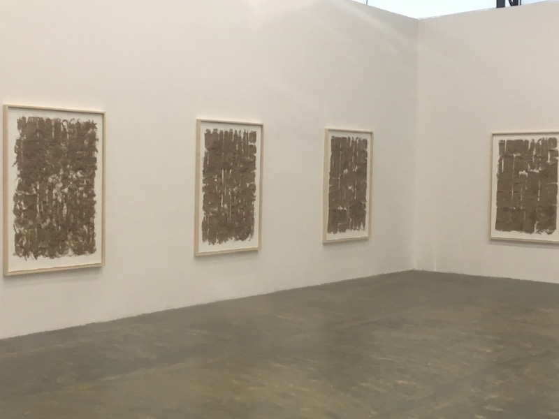 Analia Saban at Qiao Space canvas on paint