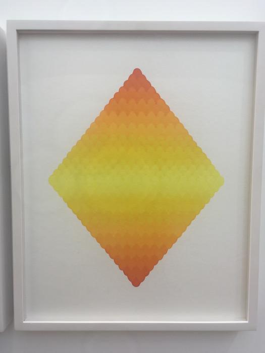 Dong Dawei Volcano kiss maker on paper 50x40cm 2015