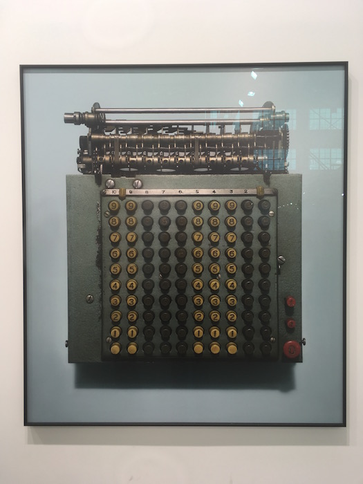 Gao Lei, untitle (Mechanical calculator) Ed of 3 120x110cm 2017