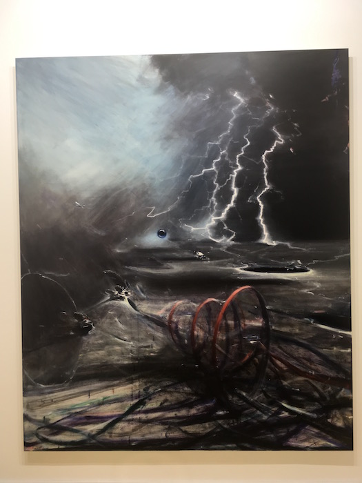 Jia Aili Stardust Hermit 2017, oil on canvas, 240x200cm