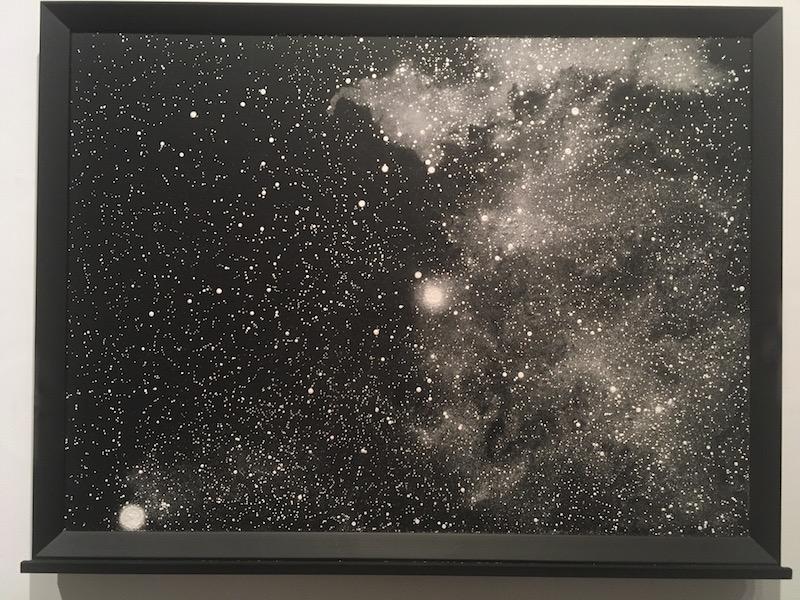 Ni Youyu Dust Sketch Cygnus mixed media 2017