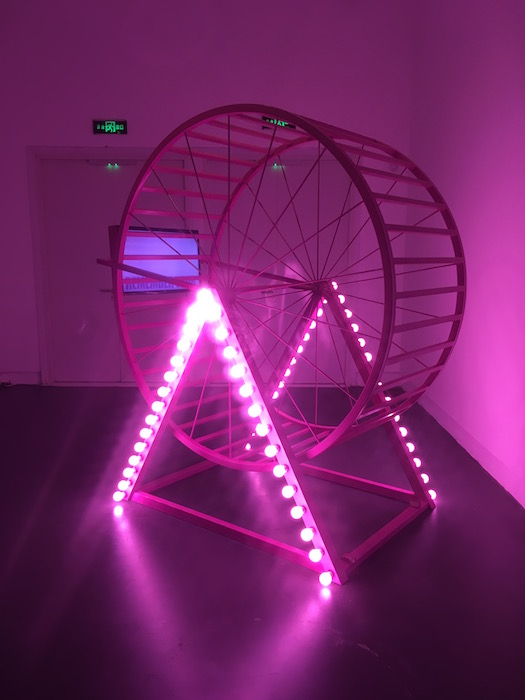 Wang Xin Hamster Wheel mixed media 2016