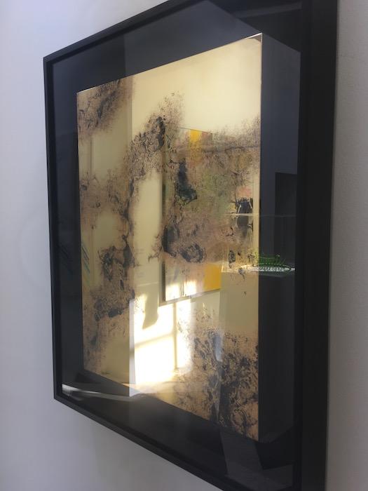 Zhang Ding The kong of need-5 2016 mixed media silkscreen stainless steel 24-karat gold leaf 60x45x3cm