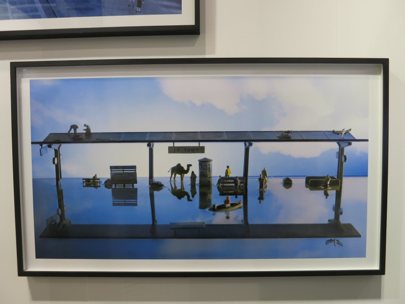 Cao Fei, La town - Train Station, 2014, Photography, 70.0 × 130.0 cm
