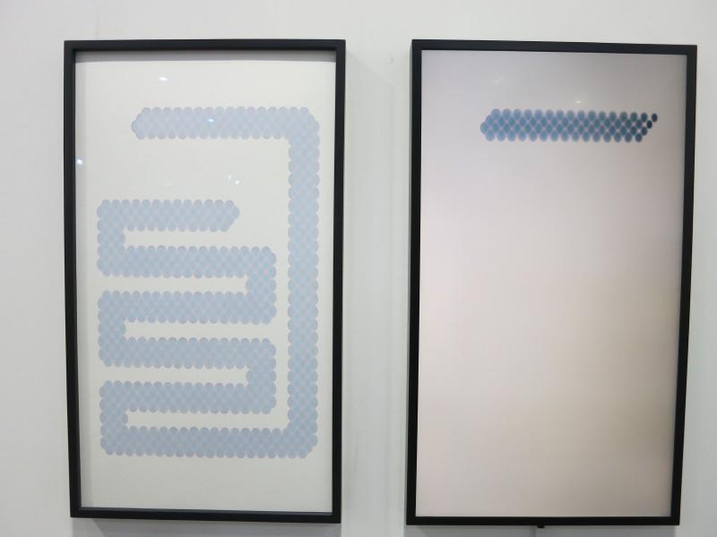 Dong Dawei, Snake bv20, marker on paper, 72x41cm, video 1'11, 2017