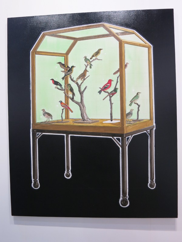Ni Youyu, Silent singers, 2017, mixed media on canvas, 158x129cm