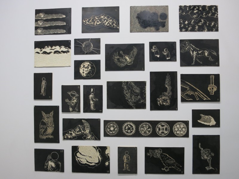Sun Xun, Time Spy, 2016, Woodcut painting in 25 parts, 157, 5x175,3cm
