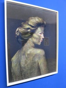 Wang Haiyang Skins 01, 2018 Pastel on Paper exhibition view at Capsule Shanghai
