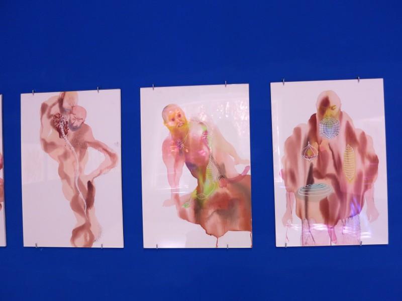 Wang Haiyang Untitled watercolour on paper exhibition view at Capsule Shanghai