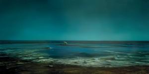 JIA Aili, February Talk- Forever(Sea), oil on canvas, 300 x 600 cm, 2006