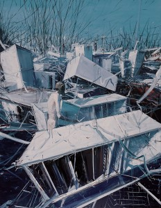JIA Aili, The Wasteland, oil on canvas, 267 x 200 cm, 2007